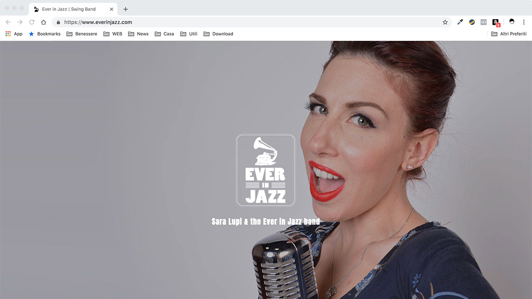 Ever in Jazz Desktop - Music Web Site -