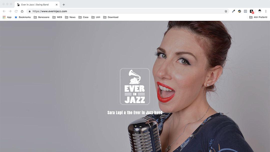 Ever in Jazz Desktop - Music Web Site -